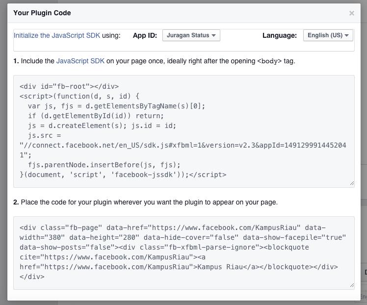Cara Membuat Facebook Like Box Terbaru 2015