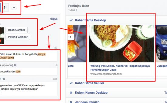 Cara Membuat Iklan Facebook Ads Berbeda Tiap Link