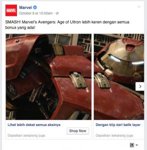 Iklan Marvel Dengan Link Berbeda