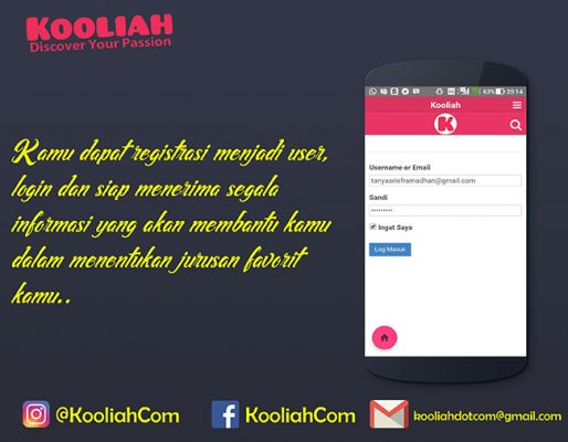 Login - Aplikasi Kooliah