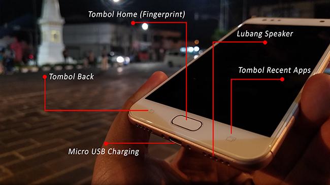 Bagian Bawah ASUS ZenFone 4 Selfie