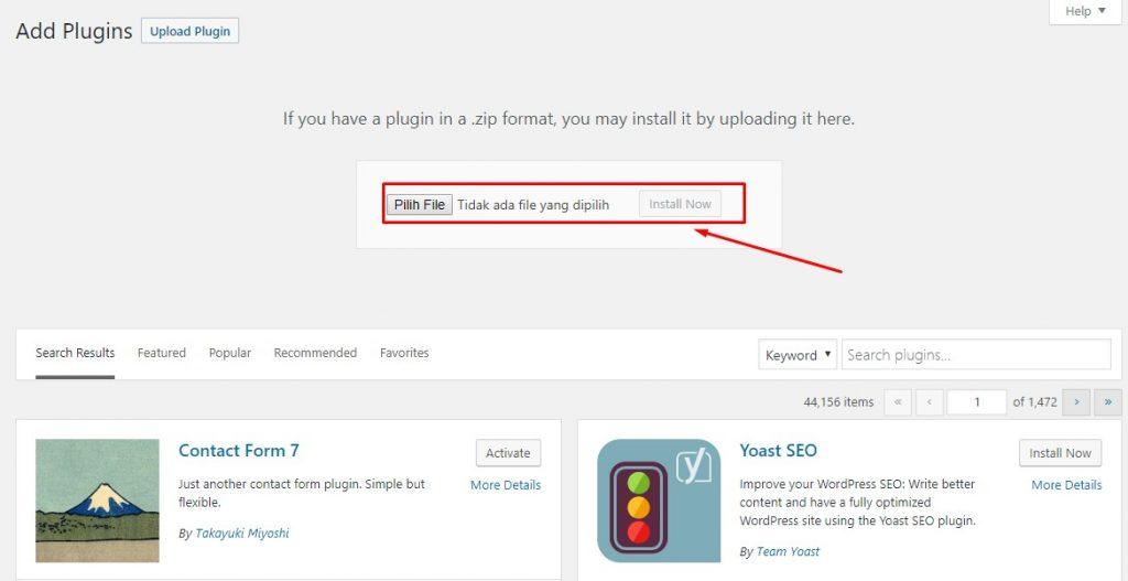 Cara Memasang dan Install Plugin WordPress