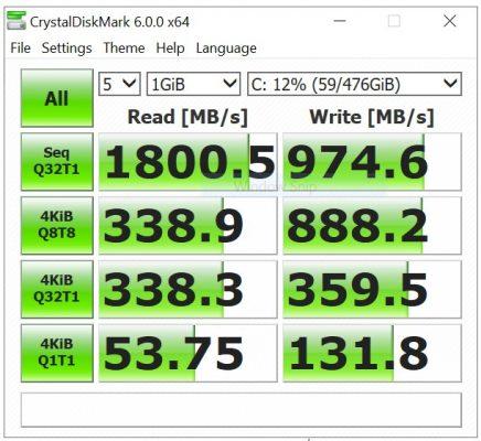 CrystalDiskMark 6 - ASUS VivoBook Ultra A412