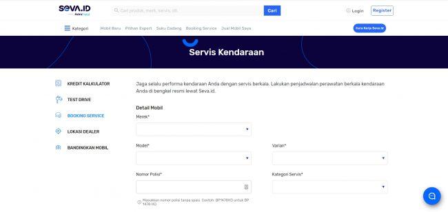 Service Mobil di SEVA.id