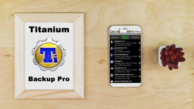 Fitur utama Titanium Backup PRO